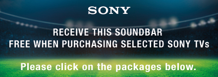 Receive this Soundbar Free when Purchasing a Selected Sony TV