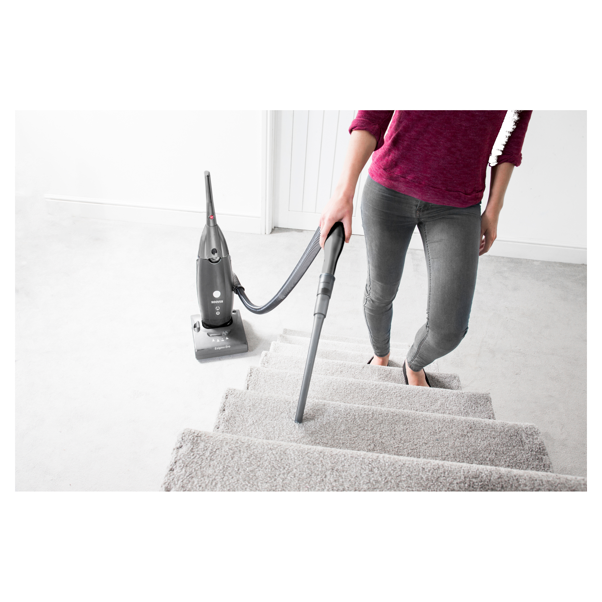 Details about Hoover Enigma Evo Bagged Upright Vacuum Cleaner with 3L Capacity Grey