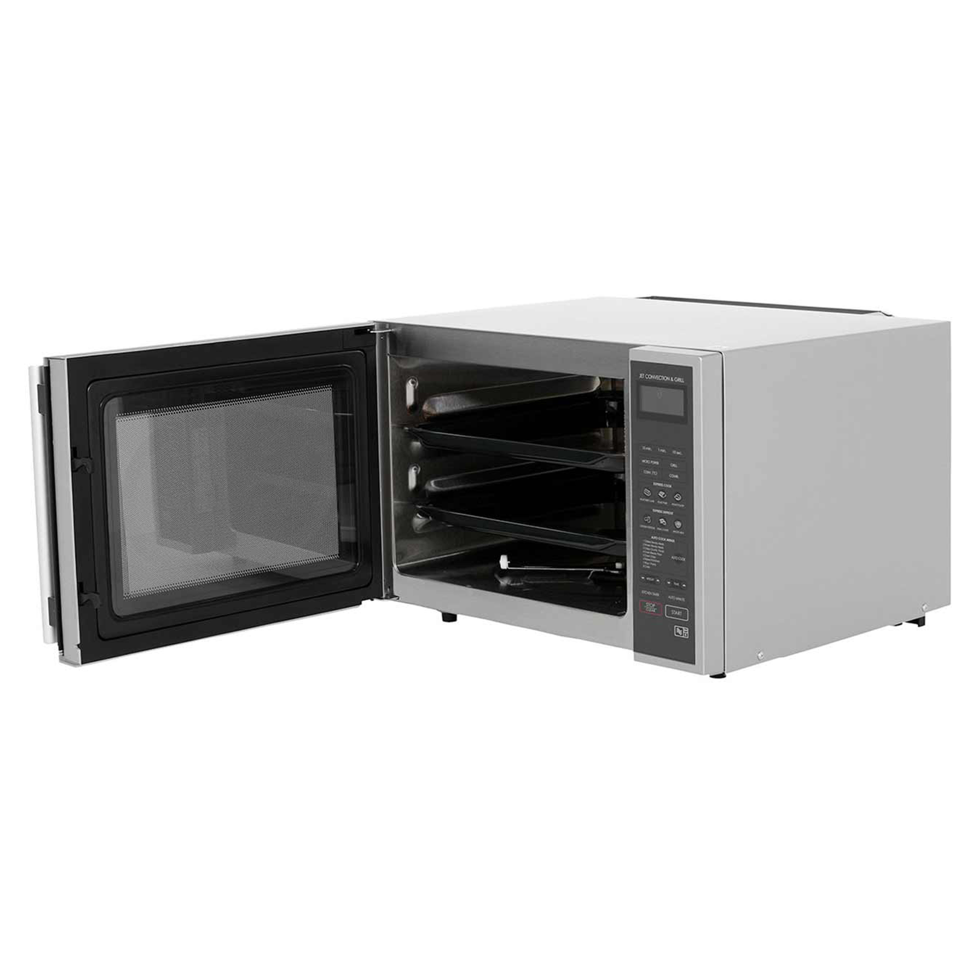 Sharp-R959SLMAA-900w-40Litre-Convection-Grill-Microwave-in-Silver-Black thumbnail 2