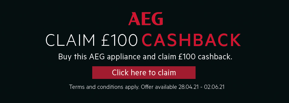 Claim £100 Cashback on this appliance