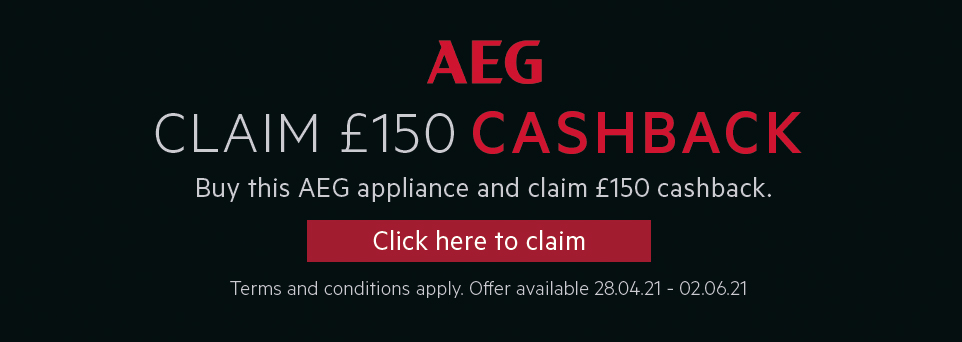 Claim £150 Cashback on this appliance