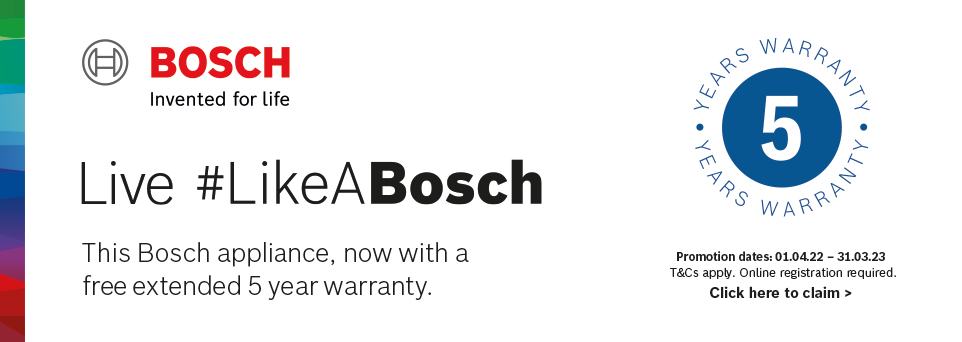 Claim 5 Years Extended Warranty with this appliance