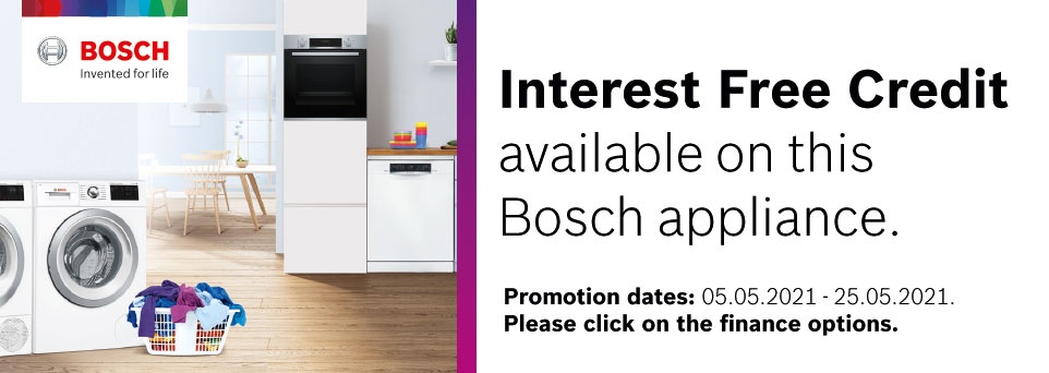 Interest Free Credit available on this appliance