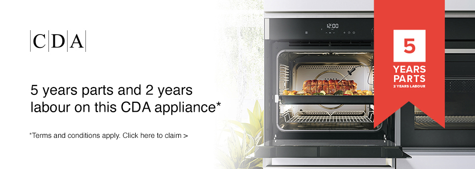 Claim 5 Years Parts & 2 Years Labour with this appliance