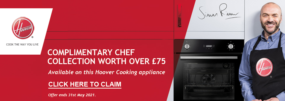 Complimentary Chef Collection with this appliance