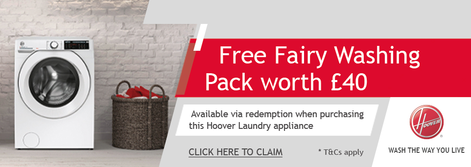 Free Fairy Washing Pack with this appliance