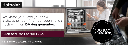 100 Day Money Back with Hotpoint