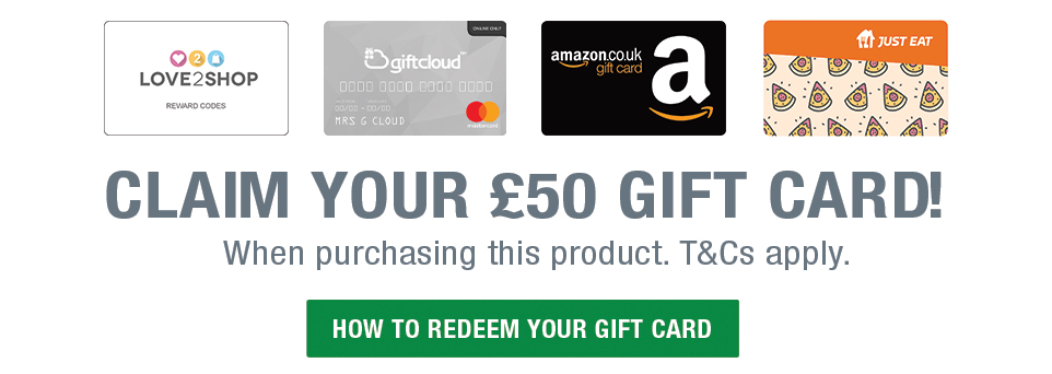 Claim your £50 Gift Card!