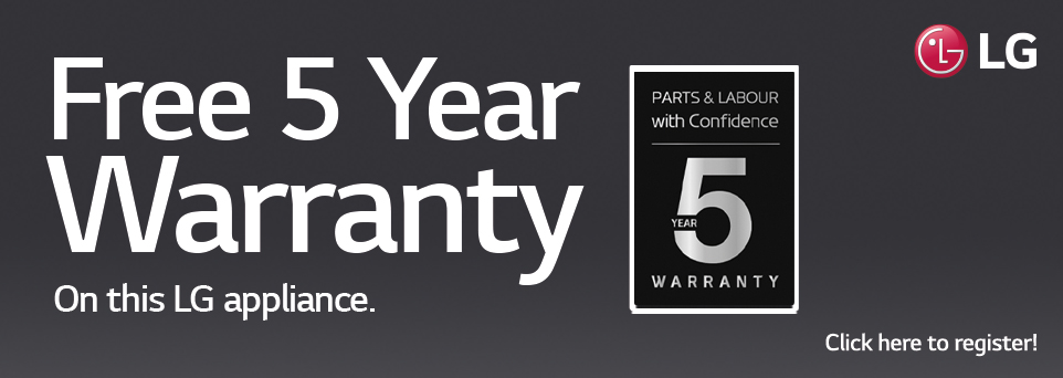 Free 5 Year Warranty Via redemption