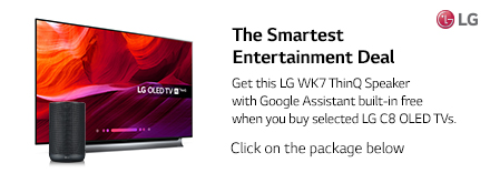 Get this ThinQ Speaker Free With Selected LG TV's