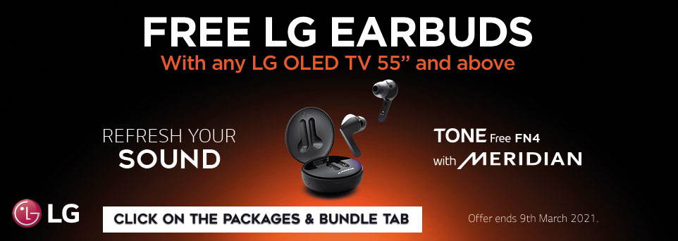 Free LG Earbuds with selected OLED TVs - Package Deals