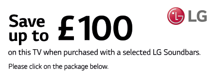 Save up to £100 on selected Soundbars with this TV