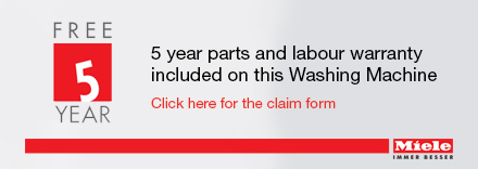 Free 5 year warranty via redemption form