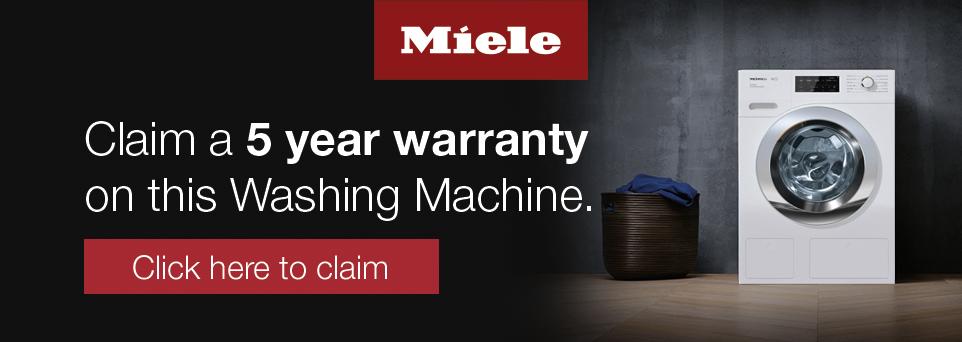 Free 5 year warranty via redemption form