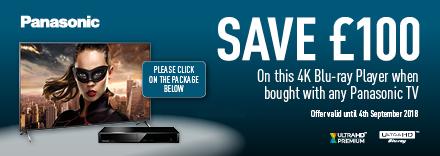 Buy a Panasonic TV and Save œ100 on this 4K Blu-Ray player
