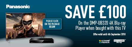 Buy this TV and Save £100 on DMP-UB320