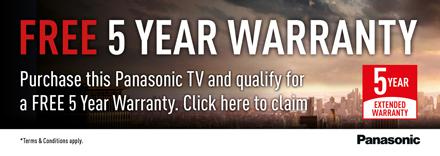 Claim 5 year Warranty