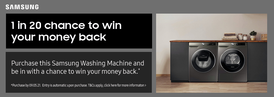 1 in 20 chance to win money back on this Washing Machine