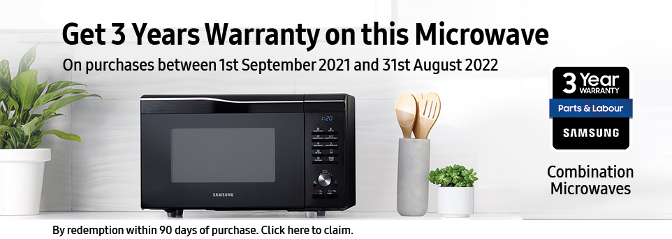 Claim 3 Years Warranty