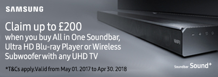 Claim up to £200 on selected Audio AV Products