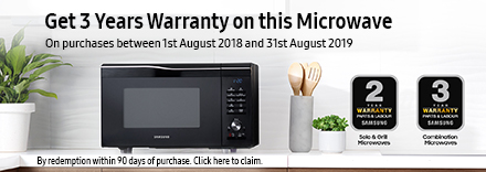 Claim 3 yrs Warranty on this Microwave