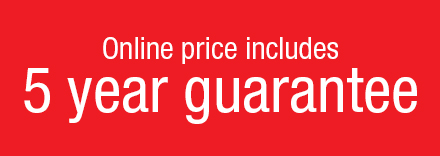 Price Includes 5 Year Guarantee