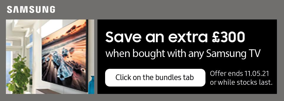 Save an extra £300 with selected TVs
