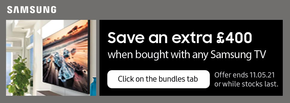 Save an extra £400 with selected TVs