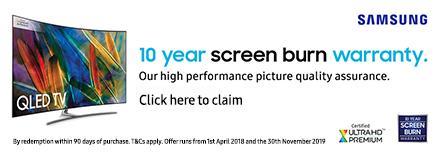 10 Year Screen Burn Warranty