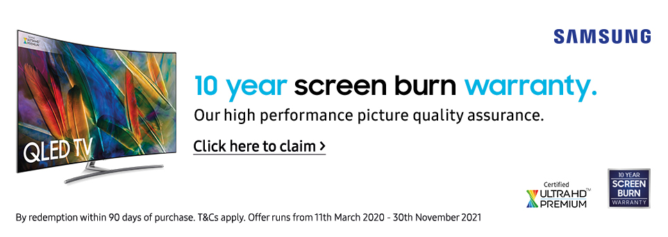 Claim a 10 Year Screenburn Warranty