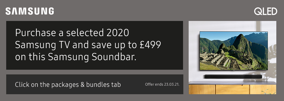 Save up to £499 on this Soundbar with selected TVs