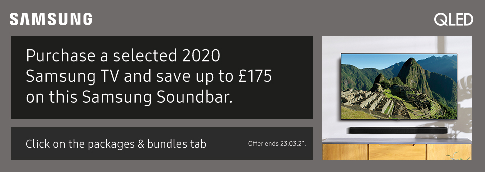 Save up to £175 on this Soundbar with selected TVs