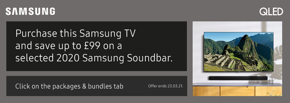 Save up to £99 on selected Soundbars with this TV