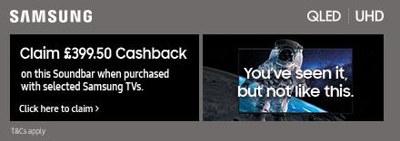 50% cashbackon this Soundbar with selected Samsung TVs